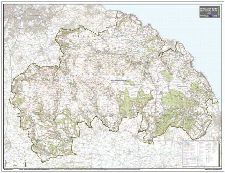 North Yorkshire Moors National Park - Wall Map